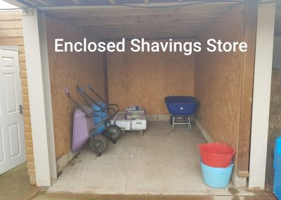 enclosed shavings store